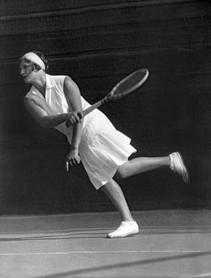 Tennis Champion Kitty Godfree Art Print by Underwood Archives