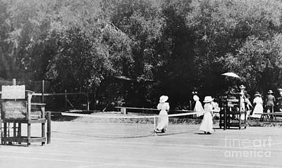 Ojai Wall Art - Photograph - Tennis Champions Sutton And Hotchkiss by Omikron