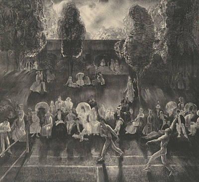 Relief - Tennis by George Bellows