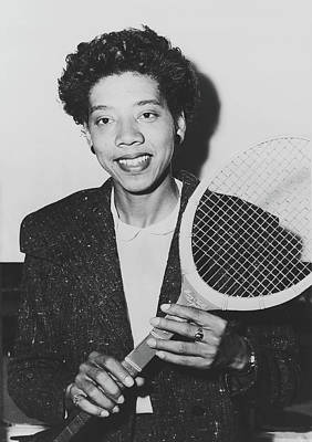 Photograph - Tennis Great Althea Gibson 1955 by New York Telegram