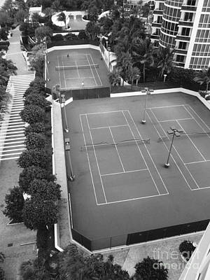 Tennis Match Miami 2011 Art Print by Jason Freedman
