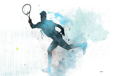 Digital Art - Tennis Player -19 by Marlene Watson