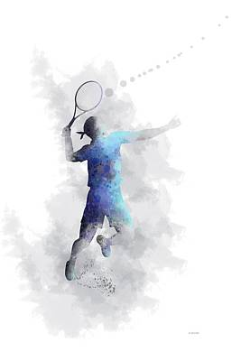 Digital Art - Tennis Player by Marlene Watson
