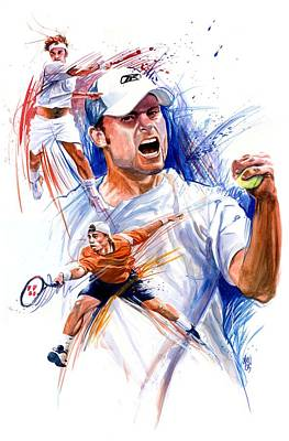 Roger Federer Painting - Tennis Snapshot by Ken Meyer jr
