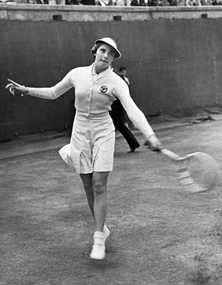 Women Tennis Photograph - Tennis Star Katherine Stammers by Underwood Archives