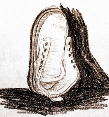 Tennis Shoes Drawing - Tennis Without Braid by Daniel Ribeiro