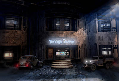 Digital Art - Tenny's Tavern by Hal Tenny