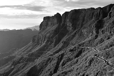 Photograph - Teno Mountains Tenerife Monochrome by Marek Stepan