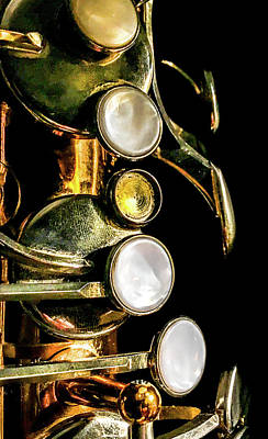 Marching Band Photograph - Tenor Saxophone Keys by Optical Playground By MP Ray