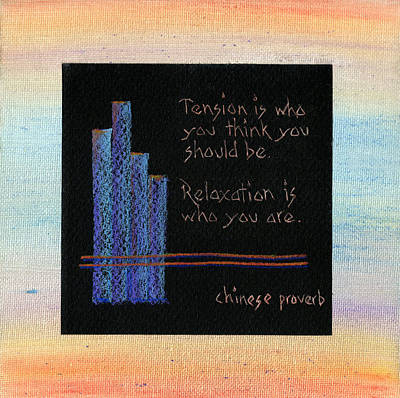 Tension Is...in Orange And Blue Art Print by Andrea Swope