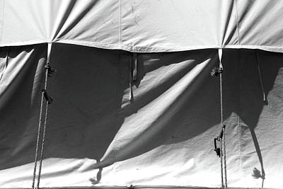 Photograph - Tent And Shadows 5 Bw by Mary Bedy