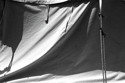 Photograph - Tent And Shadows 7 Bw by Mary Bedy
