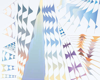 Digital Art - Tent Curtain by Kevin McLaughlin