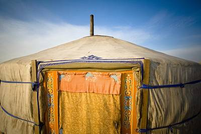 Yurts Photograph - Tent In The Desert Ulaanbaatar, Mongolia by David DuChemin