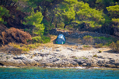 Photograph - Tent In Wilderness By The Sea by Brch Photography