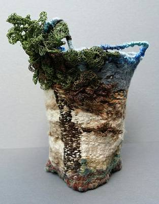 Mixed Media - Tent Rock Basket by Brenda Berdnik