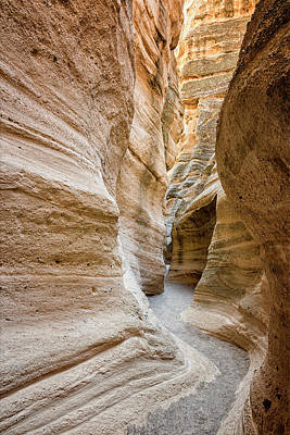 Photograph - Tent Rocks Slot Canyon 2 - Tent Rocks National Monument New Mexico by Brian Harig