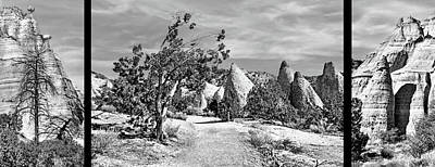 Photograph - Tent Rocks - Triptych by Nikolyn McDonald