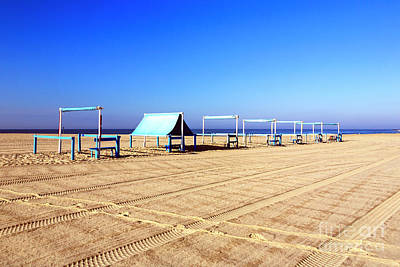 Photograph - Tent Stands On Cape May Beach by John Rizzuto