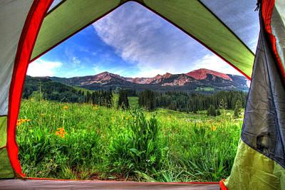 Tent View Art Print by Scott Mahon