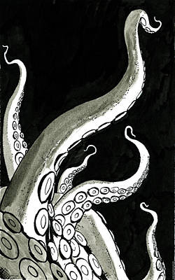 Drawing - Tentacles by Amy Lynn  Umezu