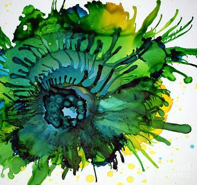 Alcohol Ink Wall Art - Painting - Tentacles by Beth Kluth