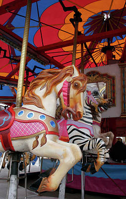 Photograph - Tented Carousel by Lesley Spanos