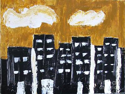 Pallete Knife Painting - Tenth Avenue by Marsha Heiken