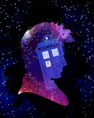 Doctor Who Inspiredtenth Doctor Tardis Art Print