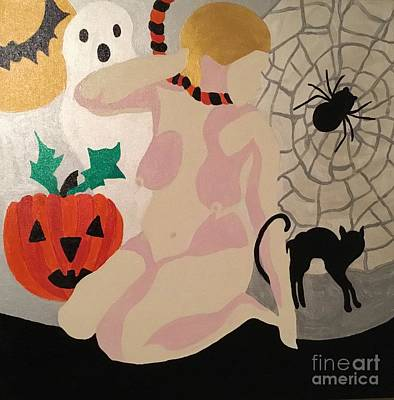 Painting - Tenth Halloween  by Erika Chamberlin