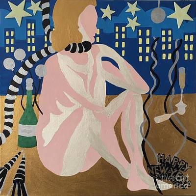 Painting - Tenth New Years Eve by Erika Chamberlin