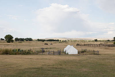 Photograph - Tents At Fort Laramie National Historic Site In Goshen County by Carol M Highsmith