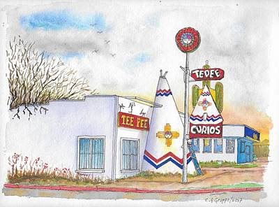 Painting - Tepee Curios In Tucumcari, New Mexico by Carlos G Groppa