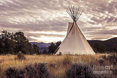 Art Print featuring the photograph Tepee by The Forests Edge Photography - Diane Sandoval