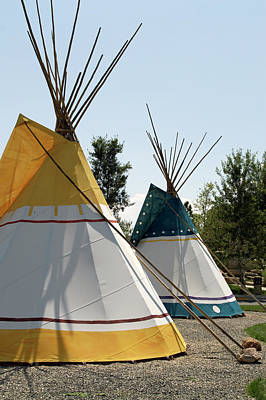 Tepees Wyoming Buffalo Bill Center Of The West Art Print by Thomas Woolworth