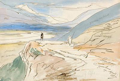 Drawing - Tepelene, 19 April 1857 by Edward Lear
