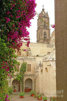 Photograph - Tepotzotlan Courtyard Mexico by John  Mitchell
