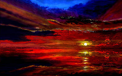 Artist Direct Order Painting - Tequila Sunrise by Hanne Lore Koehler