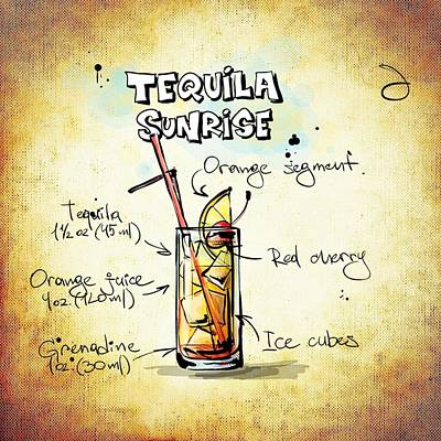 Drunk Mixed Media - Tequila Sunrise  by Movie Poster Prints