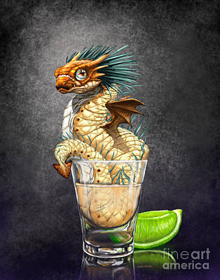 Drink Digital Art - Tequila Wyrm by Stanley Morrison