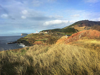 Photograph - Terceira Island, Ilheus De Cabras And Lighthouse Of Ponta Das Contendas by Kelly Hazel
