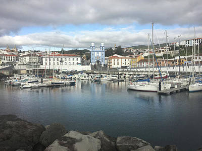 Photograph - Terceira Port And Angra Do Heroismo by Kelly Hazel