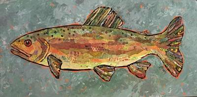 Painting - Teresa The Trout by Phiddy Webb