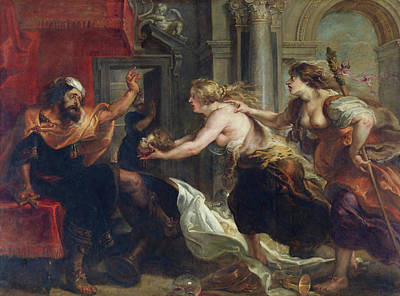 Greek Painting - Tereus' Banquet by Peter Paul Rubens