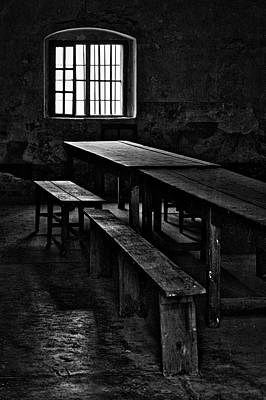 Photograph - Terezin Tables, Benches And Window by Stuart Litoff