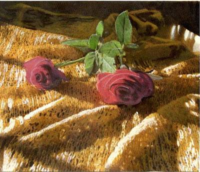 Painting - Teri's Roses by John Brisson