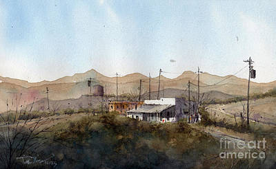 Painting - Terlingua Adobe by Tim Oliver