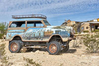 Desert Photograph - Terlingua Car Art2  by Tod and Cynthia Grubbs