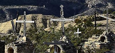 Photograph - Terlingua Cemetery by Nadalyn Larsen