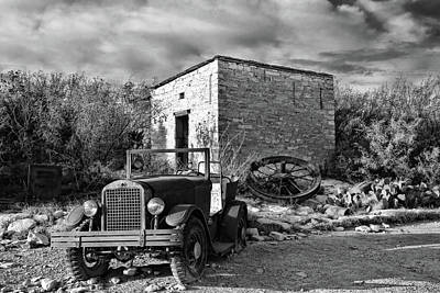 Photograph - Terlingua Ghost Town 1 Black And White by Judy Vincent
